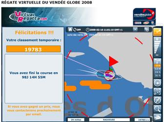 Vendée Globe 2008 : Radieuse, le 16 février 2009
